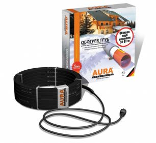Комплект для защиты водосточных труб и желобов от замерзания 12 метров. AURA FS 30-12