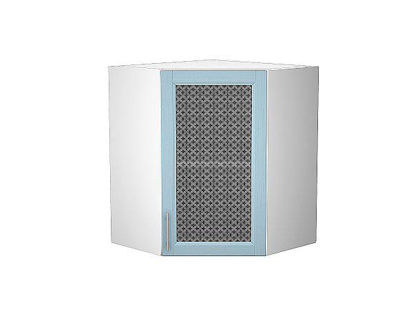 Шкаф верхний угловой Сканди ВУ590 со стеклом Sky Wood