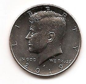 Джон Кеннеди 50 центов США 2019 Монетный двор на выбор
