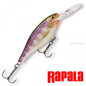 Воблер Rapala Shad Rap SR05 50 мм / 6 гр / Заглубление: 1,2 - 2,7 м / цвет: PD