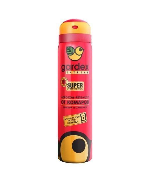 Аэрозоль Gardex Extreme SUPER от комаров, мошек и слепней 80мл