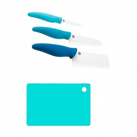 Набор керамических ножей с разделочной доской Xiaomi Huo Hou Hot Ceramic Knife Chopping Block Kit