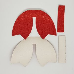 `Вырубка ''Хвост Бант-14, набор - 2 комплекта'', размер: 66*47 мм, иск.кожа(PU) 0,5 мм, JD6004-8