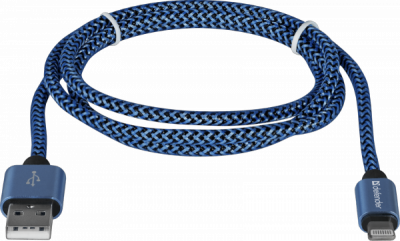 USB кабель ACH01-03T PRO USB2.0 Синий, AM-LightningM, 1m, 2.1A
