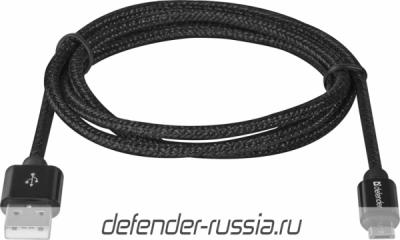 USB кабель USB08-03T PRO USB2.0 Черный, AM-MicroBM, 1m, 2.1A