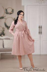 Платье  Полька (пудра)