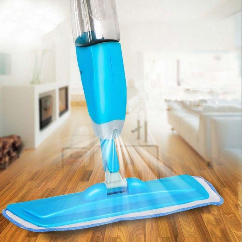 Швабра Со Встроенным Распылителем Healthy Spray Mop, Цвет Голубой