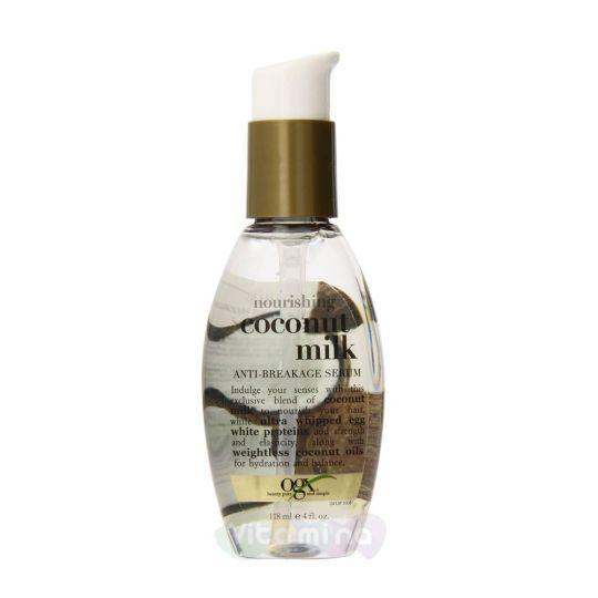 Ogx Сыворотка питательная против ломкости волос с кокосовым молоком, 118 мл