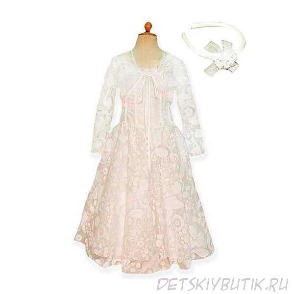 Комплект 54377 (платье+болеро+ободок), Viday Collection