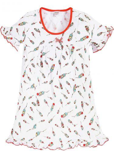Сорочка для девочек 2-6 лет Bonito BK1253P белая, оранжевая