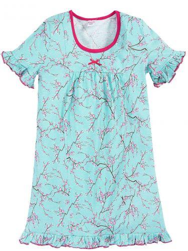 Сорочка для девочек 7-11 лет Bonito BK1219P голубая
