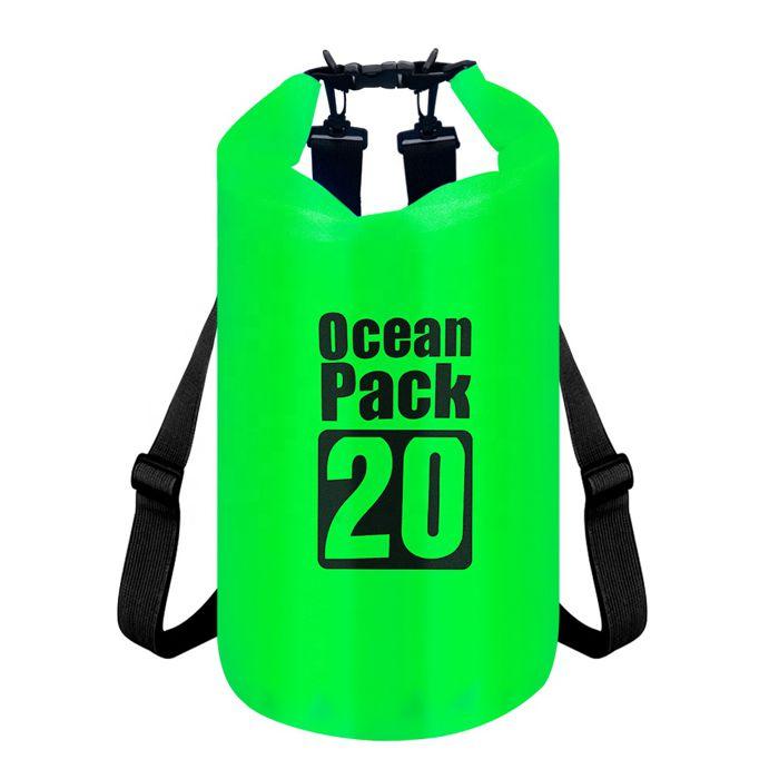 Водонепроницаемая сумка-мешок Ocean Pack, 20 L, цвет зеленый