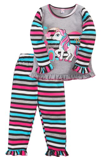 Пижама для девочки 2-5 лет Bonito BK3005PJ серая