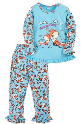 Пижама для девочки 2-5 лет Bonito BK3005PJ голубая