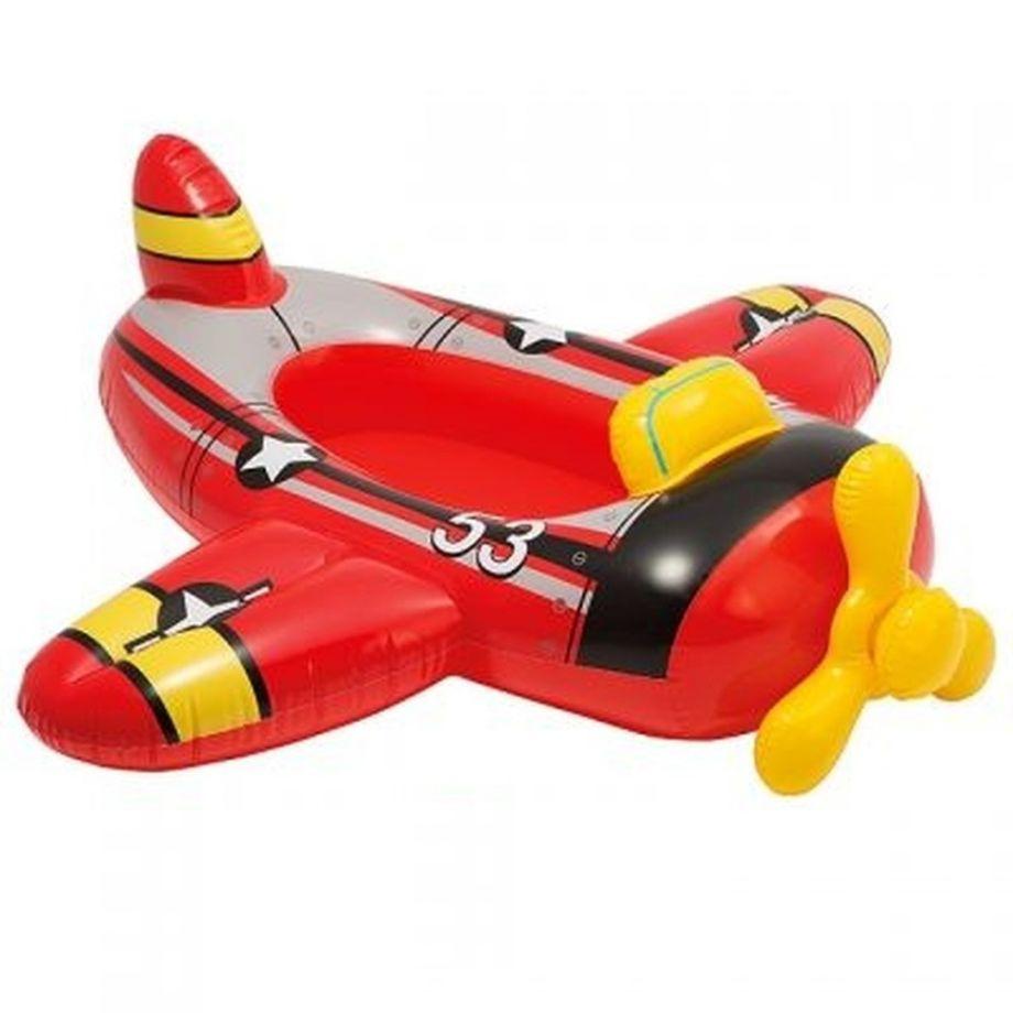 Детский надувной плотик INTEX 59380, Красный самолет , 119х107 см