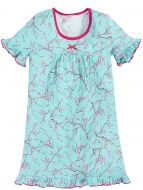 Сорочка для девочек 2-6 лет Bonito BK1253P голубая