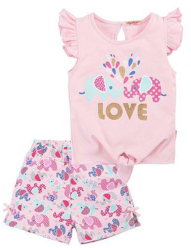 Костюм для девочек 2-5 лет Bonito BK1185F розовый
