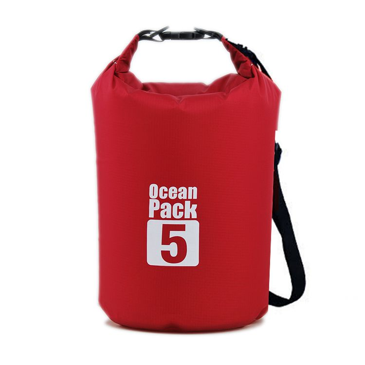 Водонепроницаемая сумка-мешок Ocean Pack, 5 L, цвет красный