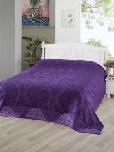 Простыня махровая жаккард OTTOMAN 200x220 см (фиолетовая) Арт.3261-9