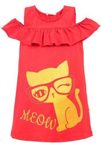 Платье на девочки 7-10 лет Bonito BK1176P красное