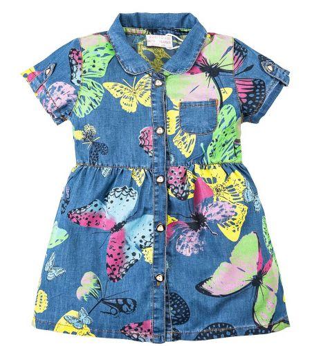 Джинсовое платье на девочки 2-6 лет Bonito BK638DJ голубой