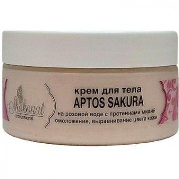 Крем для тела APTOS SAKURA на розовой воде с протеинами мидий для омоложения и выравнивания цвета кожи Шоконат