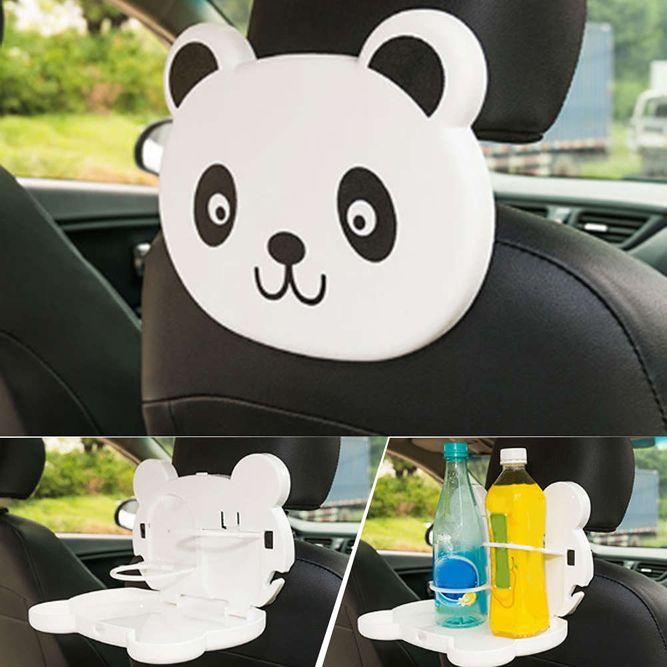 Детский столик для подголовника автомобиля Cartoon Car Tray Table, панда.