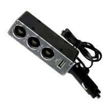 Автомобильный разветвитель прикуривателя на 3 гнезда 12-31v + USB