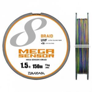 Шнур плетеный Daiwa Mega Sensor X8 Braid UVF+Si 150м/ цвет: multicolor