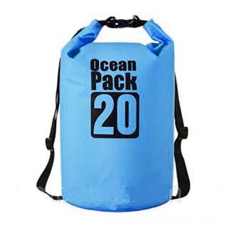Водонепроницаемая сумка-мешок Ocean Pack, 20 L, Цвет: Голубой