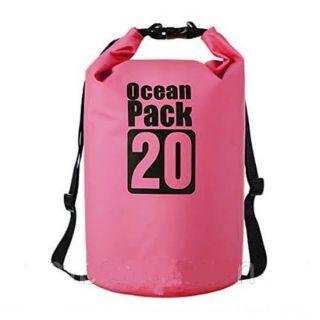 Водонепроницаемая сумка-мешок Ocean Pack, 20 L, Цвет: Розовый