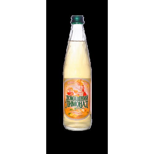 Газ. вода Домашний Лимонад Имбирь 0,5л ст/б Бочкари
