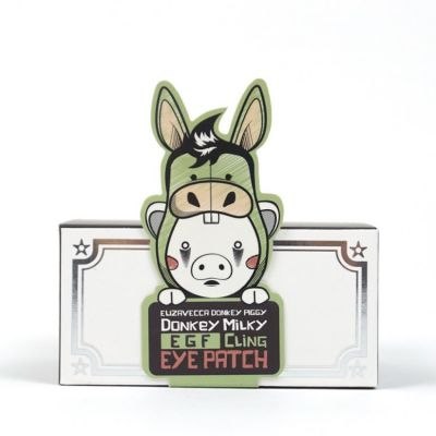 Патчи для глаз elizavecca donkey piggy milky egf cling eye patch 60шт, 70гр