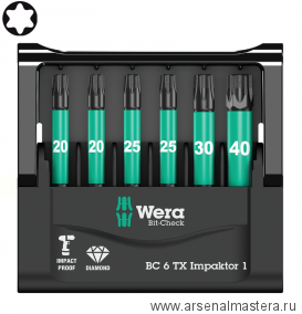 Набор WERA Mini-Check 6 TX Impaktor 1  WE-057693