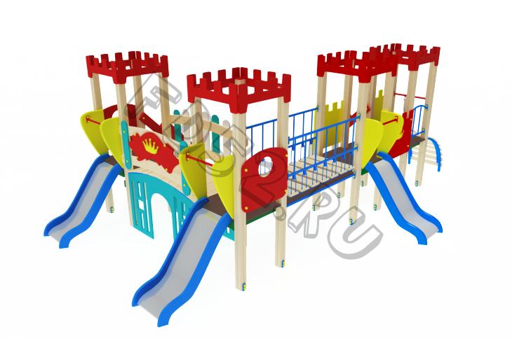 Детский игровой комплекс                          Королевство Горка 900                                           4430х6690х2730