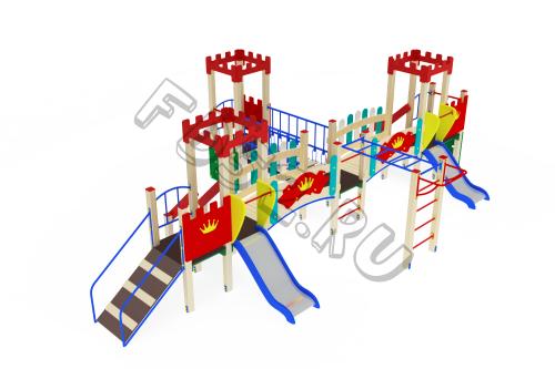Детский игровой комплекс                           Королевство Горка 750                                           4960х7740х2730