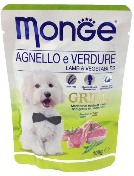 Monge Dog Grill Pouch паучи для собак ягненок с овощами 100 гр.