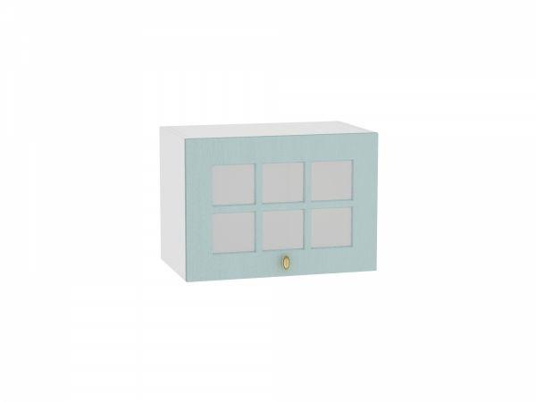 Шкаф верхний Прованс ВГ500 со стеклом (голубой)
