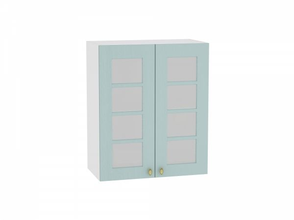 Шкаф верхний Прованс В609 со стеклом (голубой)