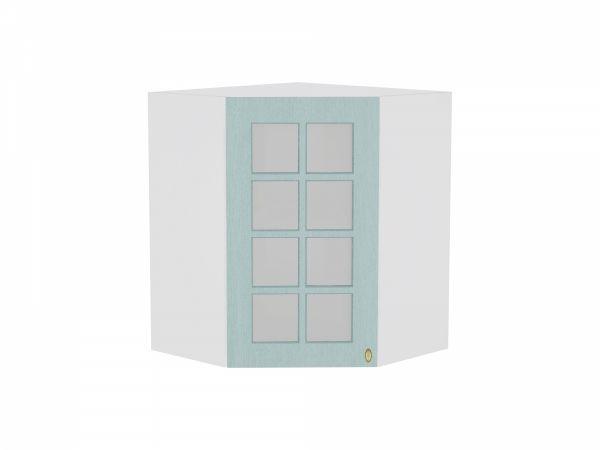 Шкаф верхний Прованс ВУ590 со стеклом (голубой)