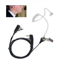 Гарнитура для охраны с силиконовым воздуховодом для раций Baofeng и Kenwood 2-Pin