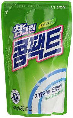 CJ Lion Средство для мытья посуды Chamgreen Концентрат мягкая упаковка 485 мл