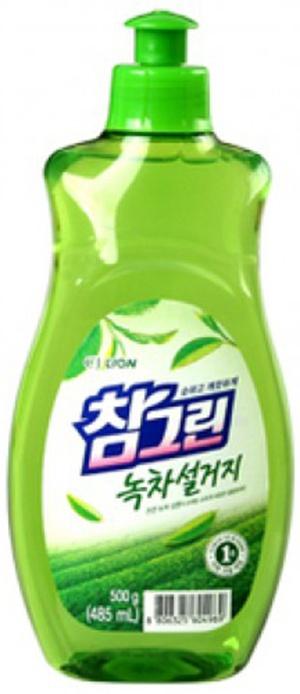 CJ Lion Средство для посуды, фруктов, овощей Chamgreen Зелёный чай пуш-пул 480 мл