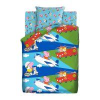"""Детское постельное белье """"Профессии"""", рис.16033-16034 (Свинка Пеппа)"""