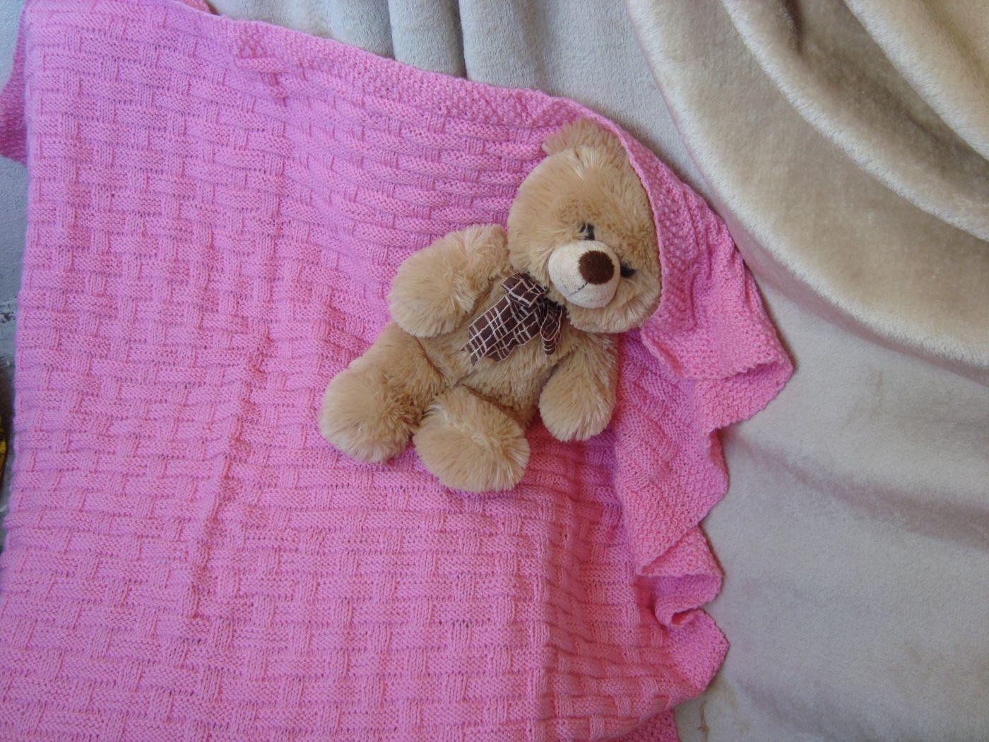 Детский вязаный плед