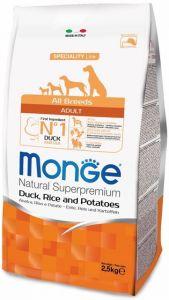 Monge Dog Speciality корм для собак всех пород утка с рисом и картофелем 2,5 кг.