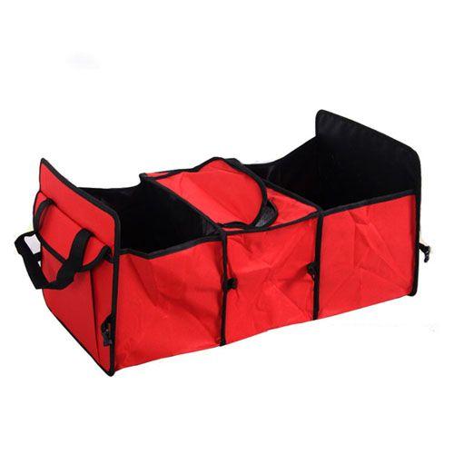 Органайзер - холодильник в багажник автомобиля Trunk Organizer & Cooler, красный.