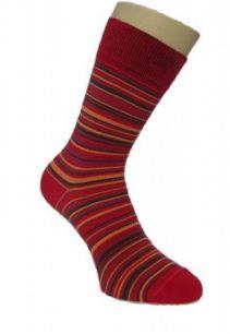 Мужские цветные носки  с418 красная полоска