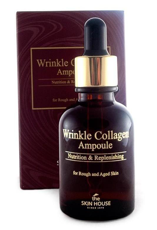 """Антивозрастная ампульная сыворотка с коллагеном """"Wrinkle Collagen"""", 30мл, The Skin House"""