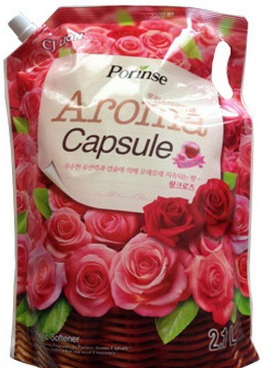 CJ Lion Кондиционер для белья Pink rose мягкая упаковка 2100 мл